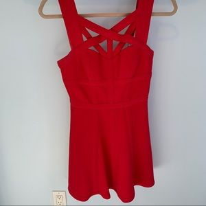 BCBG MAXAZRIA Red Cocktail Dress